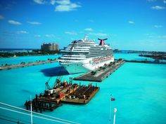 Carnival Dream docked in Nassau; this was the first place we docked on my very first cruise at 14yrs of age... oh how I would appreciate this even more now!