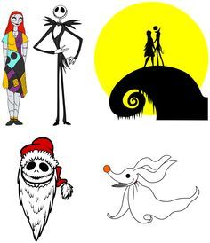 jack and sally cube cut outs - Google Search