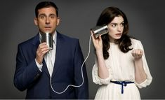 Steve Carrell and Anne Hathaway by Brian Bowen Smith