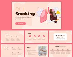 Quit Smoking Free PowerPoint and Google Slides Template