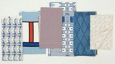 In 1955, Frank Lloyd Wright designed a collection of fabric patterns for F. Schumacher & Co.