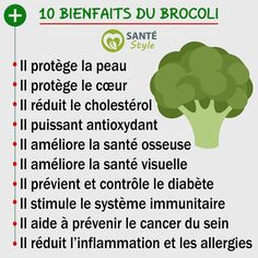 10 bienfaits du brocoli #santestyle #sante #health #aliments #food #beauté #beauty #maigrir #perdredupoids #minceur #weightloss #manger #eat #quote # ciation #psycho #nutrition #foodporn #healthyfood #motivation #healthyfacts #yoga #cancer #fruit