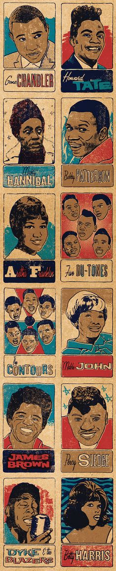 soul & funk trading cards