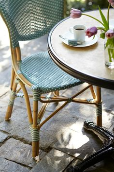 Create the allure of a French sidewalk café with these charming and comfortable Paris Bistro Dining Chairs. | Frontgate: Live Beautifully Outdoors
