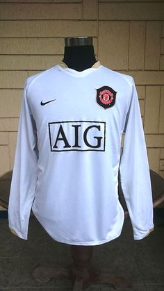 432498c0d English premier manchester united fc 2006-2007 fa premier league champion jersey  nike sphere dry away longsleeves shirt large sold