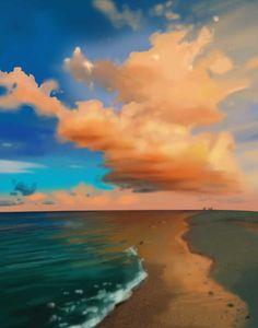 speed painting/Park Eun Gang/40min./cloud