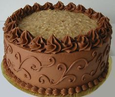 chocolate cake decoration ideas for christmas also decorating ideas for a chocolate birthday cake also best chocolate cake decorating ideas Chocolate Buttercream Cake, Buttercream Cake Designs, Cake Chocolate, Chocolate Cake Designs, Chocolate Cake Decorated, Beautiful Chocolate Cake, Buttercream Icing, Chocolate Hazelnut, White Chocolate
