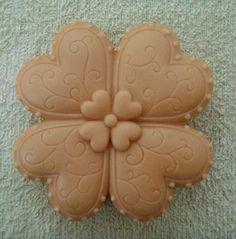 Lucky Heart (S070) Silicone Handmade Soap Mold Crafts DIY Mold