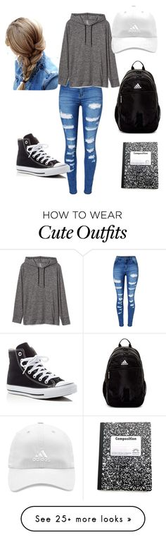 """""""tom boy back to school outfit"""" by heal838 on Polyvore featuring WithChic, Gap, adidas and Converse"""