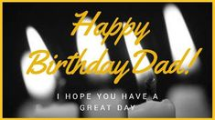 I hope you have a great day. A dark background video showing lighted candles and a yellow framed background.