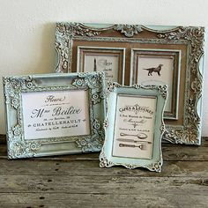 HaM / Vintage sada rámov Vintage handmade frames shabby diy chalkpaint