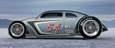 bonneville+saltflat+racer+speed+demon | Beautiful Volkswagen Bug salt flat racer.