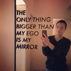 The only thing bigger than my ego is my mirror  @annalenayvr #Vancouver #YVR