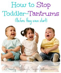 Really smart way to help prevent tantrums!!!