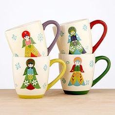 angel mugs ... hot cocoa - happy holidays!!!