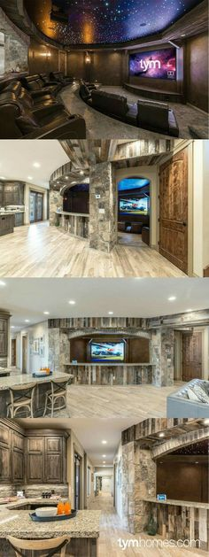 """Love this house with the movie room😊 """"People's Choice Award"""" 2015 Salt Lake Parade of Homes. Home entertainment & automation control by TYM. Featuring control, Sony Home Theater with Dolby Atmos, whole-home audio. Style At Home, Future House, Whole Home Audio, Media Room Design, Design Room, Home Theater Rooms, Cinema Room, Movie Theater Basement, Theater Seats"""