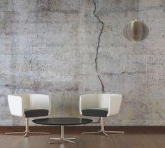 Tapeten trends doppelmuster noel von sandberg shabby - Betonwand wohnzimmer ...
