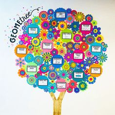 classroom decor Middle school math is cuter than EVER! could not have made a more gorgeous and engaging GeomeTREE word wall! Swipe to get a Middle school math Math Wall, Math Word Walls, Education Middle School, Middle School Classroom, Middle School Crafts, Elementary Schools, Math Classroom Decorations, Maths Classroom Displays, School Wall Decoration