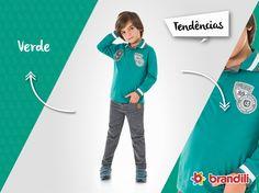 Polo infantil de manga longa traz estilo aliado ao conforto, seu pequeno vai fazer sucesso neste inverno com esse #lookbrandili