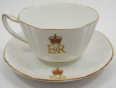 Queen Elizabeth Coronation Tea Cup and Saucer by HOMEOFTHEFUTURE