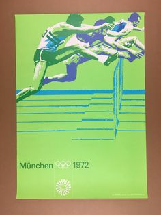 Otl Aicher Munich 1972 Olympics Track  Poster by modmadmen on Etsy