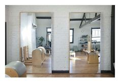 pilates studio design | pilates studio, nice colours but I would prefer mirrors covering all ...