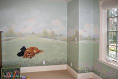 [62] a small selection of dog themed wall murals is featured at Nursery Murals and More .. inspirational!