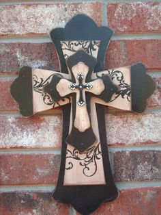 I absolutely love making these stacked crosses! I've taken over my husbands shop & power tools so that I can cut out the many designs made of different types of beautiful wood. It's nice to be able to make these without help!