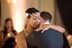 Scott and Mashayla ~ Beautiful interracial couple on their wedding day #love #wmbw #bwwm