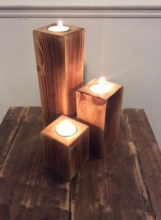 Upcycled Pallet Candle Holder