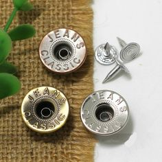 Click Our Letters Rivets Gallery to See More Style and Color . Sxy Jeans, Love Is All, I Got This, Jeans Button, Make Color, Fasteners, Giant Tree, Metal, Shake