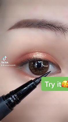 Eyeliner Looks, No Eyeliner Makeup, 3d Art Drawing, Asian Eye Makeup, Asian Eyes, Eyeliner Tutorial, Drawings, Makeup Tutorials, Eye Liner