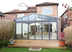 Beautiful glass gable kitchen extension. www.methodstudio.london