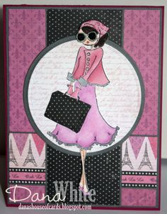 Uptown Girl Sunny is Stylish - image from Stamping Bella