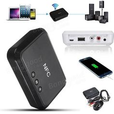 Wireless Bluetooth NFC Audio Receiver for Audio Equipment System Sale - Banggood.com