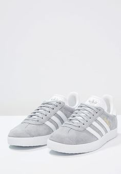 adidas Originals GAZELLE - Sneaker low - mid grey/white/gold metallic - Zalando.de