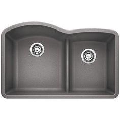 Miseno MGR33226040 Carolina 33 Double Basin Undermount Granite ... on 24 bathroom vanity with sink, 24 x 16 sink, copper bowl sink, hammered copper farmhouse sink, cast iron undermount double sink, 70 30 undermount stainless steel sink,