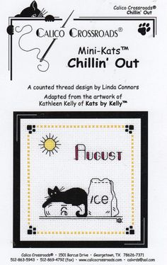Calico Crossroads - Kats by Kelly - August 08 - Chillin' Out - Kitty Cat