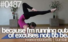 Why be fit? Because we're running out of reasons not to be!