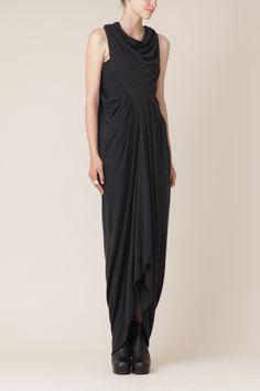 Rick Owens Lilies Wishbone Dress (Anthracite)