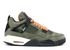 4838eb8a4e75 Jordan Shoes Air Jordan 4 Undefeated Olive Oiled Suede Flight Satin  Air  Jordan 4 - It features a beautiful olive upper with an oiled look