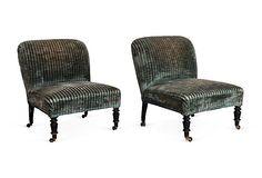 Kelly Wearstler Low Side Chairs