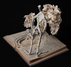 Student Artwork, Clara Lieu, Senior Portfolio Class, RISD Project Open Door, Book Sculpture based on a family narrative, 2016