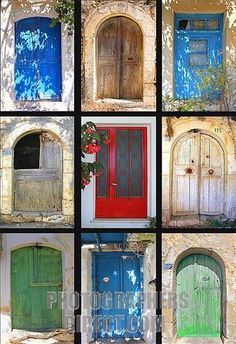 Local Doors, Crete.  Types and techniques of different centuries and civilizations