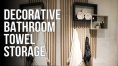 DIY : Decorative Bathroom Towel Storage // Dekorativ oppbevaring for håndklær - YouTube