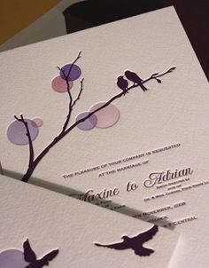 Arte para Convite de Passarinhos - Para convites de casamento, noivado ou Save…