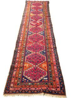 Maison d'enchères en ligne Catawiki: Tapis d'Orient fait main: Kazak Akstafa ancien 420x105 cm vers 1940 !!!