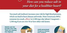 Tips For Reducing Salt Intake Infographic http://ahealthblog.com/x2d6