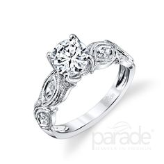 from Parade Design Milgrain-etched marquise diamonds elegantly evoke the era of art deco. Vintage Inspired Engagement Rings, Deco Engagement Ring, Gemstone Engagement Rings, Engagement Ring Styles, Designer Engagement Rings, Diamond Wedding Rings, Marquee Diamond Rings, Fashion Rings, Bling