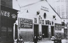 Cine de la Encomienda, situado en al calle del mismo nombre en Lavapiés. Foto tomada posiblemente en 1928.